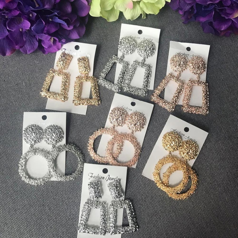 Girlgo Vintage Dangle ZA Earrings For Women Trendy Gold Color Drop Earring Maxi Fashion Jewelry Wedding Party Girl Gifts Bijoux