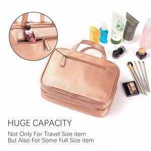 Image 2 - Mealivos różowe złoto duża uniwersalna kosmetyczka podróżna idealne wiszące organizator przyborów toaletowych