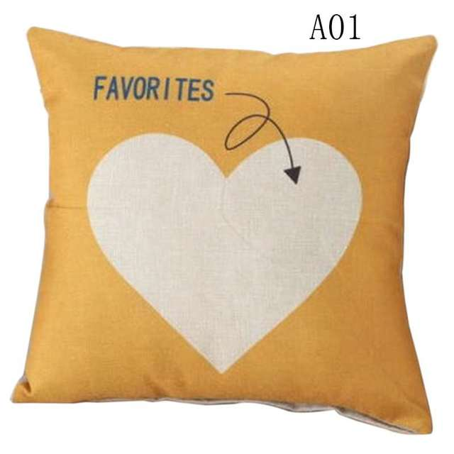Cute Love Quotes Cotton Linen Throw PillowCase Pillows Decorative Simple Decorative Pillows With Quotes