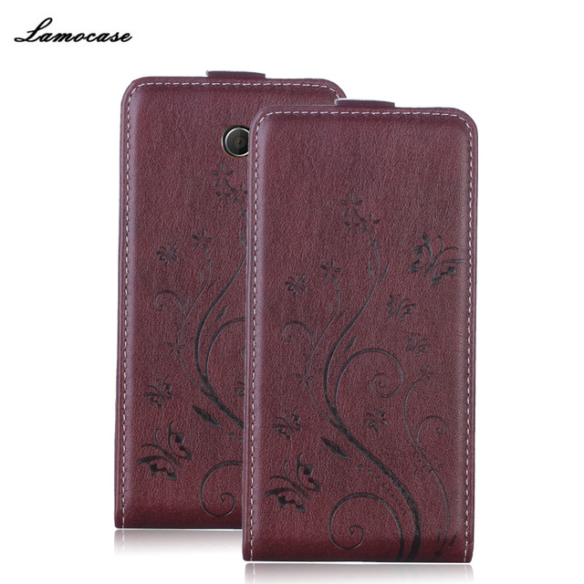Leather Case For Sony M2 Flip Cover For Sony Xperia M2 Aqua S50H D2302 D2303 D2305 Lamocase Original Phone Bags