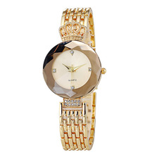 Luxury Brand New Fashion Retro Crown Ladies Watch Crystal Diamond Alloy Strap Bracelet Women Casual Wristwatch Gold Quartzwatch