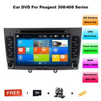 Car DVD Player GPS Navigation Radio for Peugeot 308 408 2008+ car Auto stereo Double Din S100 WINCE 6.0 car dvd player