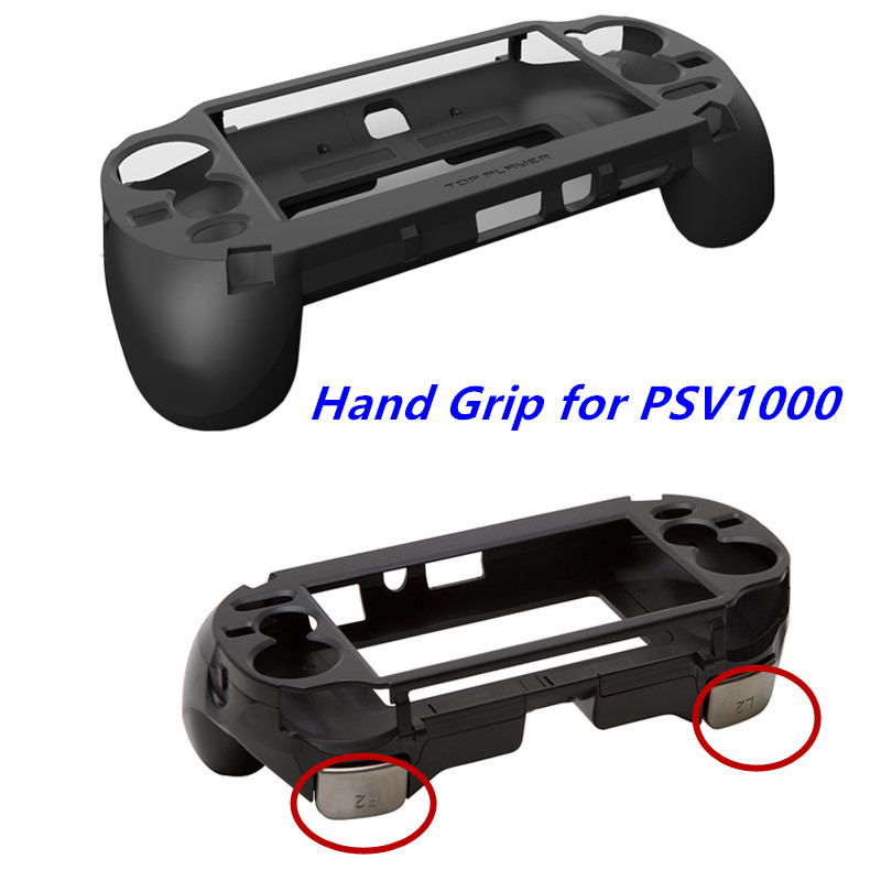 For PSV1000 PSV <font><b>1000</b></font> <font><b>PS</b></font> <font><b>VITA</b></font> <font><b>1000</b></font> Game Console Hand Grip Handle Hold Joypad Stand Case Shell Protect with L2 R2 Trigger Button image