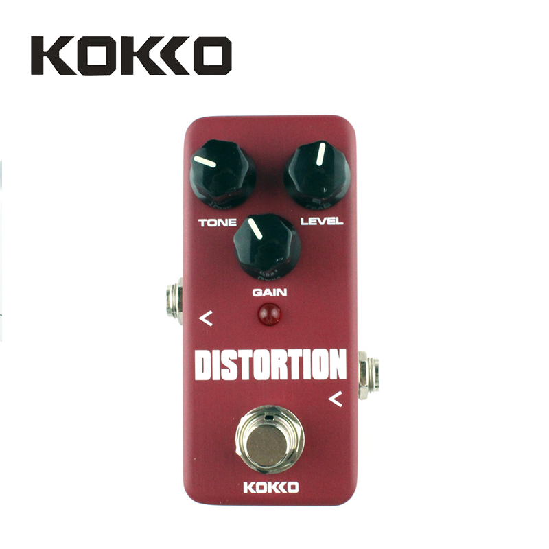 KOKKO FDS2 Mini Distortion Pedal Portable Guitar Effect Pedal High Quality Guitar Parts & Accessories new guitar distortion pedal de high quality