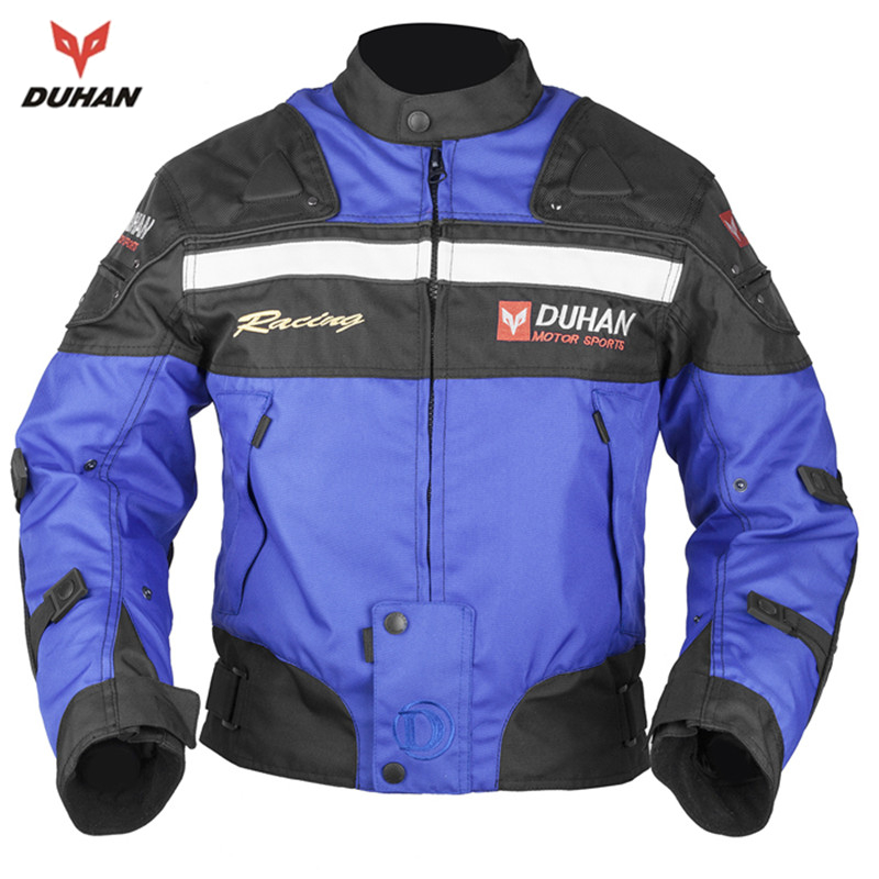 DUHAN Men's Motorcycle Jackets Oxford Cloth Motocross Off-Road Racing Jacket Clothes Moto Five Protector Guards - mama cao 's store