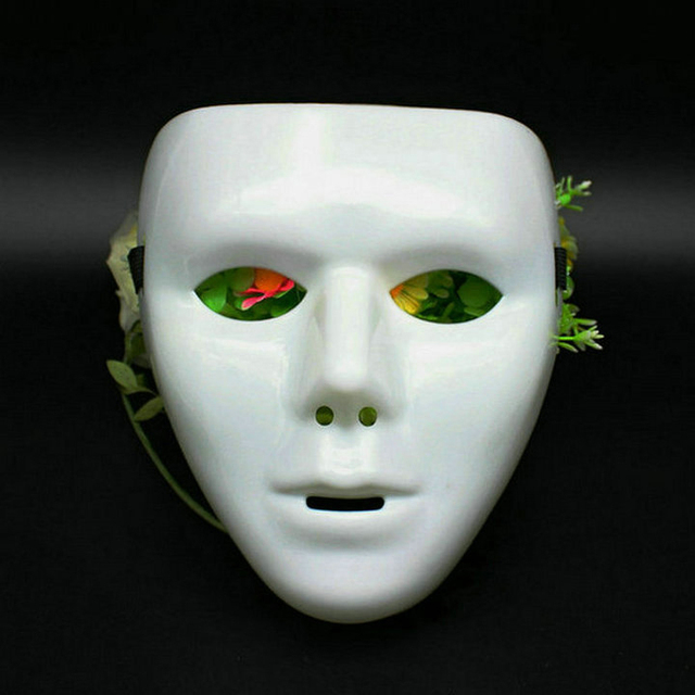0bddcf2ad2b38 JabbaWockeeZ Face Mask Halloween Party Deco Hip-Hop Ghost Dance Mask White  Green  94801