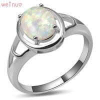 Pierścień Weinuo Biały Ogień Opal 925 Sterling Silver Najwyższa Jakość Fantazyjne biżuteria Ślubna Pierścionek Rozmiar 5 6 7 8 9 10 11 A439