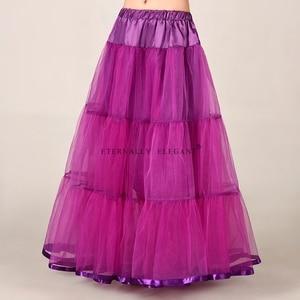 Image 1 - מכירה לוהטת טול חצאית רב צבע תחתונית ארוך לחתונה שמלות תחתוניות 2018 EE6639