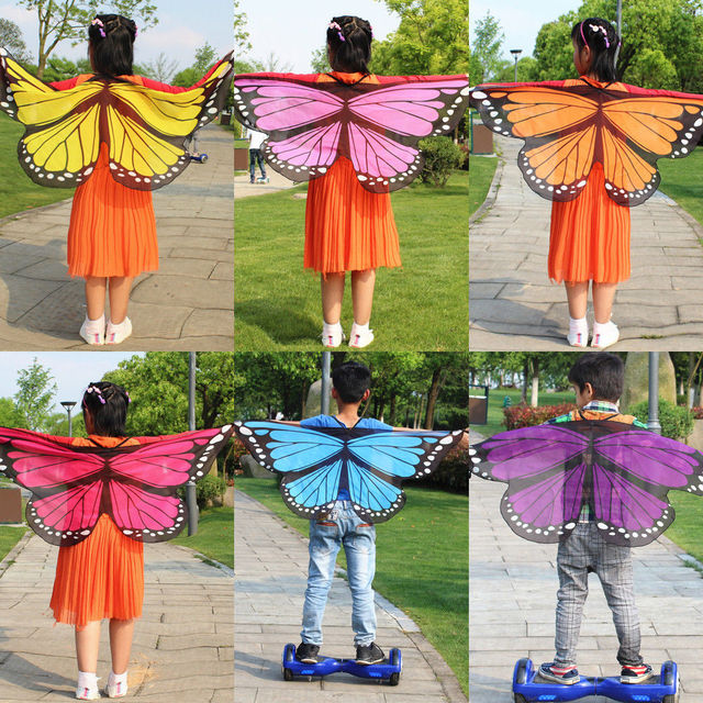 Family Matching Outfits Mother Girls Boys Kids Fairy Wings Butterfly