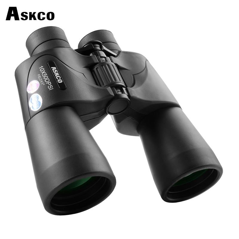 Askco HD Military Binoculars 10X50 Nitrogen Waterproof Bak4 Prism Telescope Portable Long Range Top binoculars for Hunt Tourism стоимость