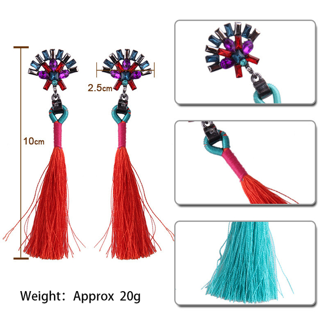 Candy Color Tassel Earring