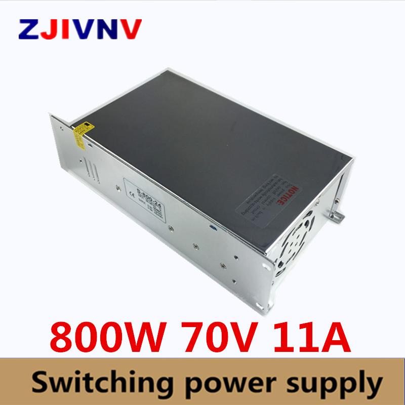 Universal DC70V 11A 800W Regulated Switch Power Supply Transformer 110V 220V AC to DC 70V SMPS For CNC Machine DIY LED Lamp CCTVUniversal DC70V 11A 800W Regulated Switch Power Supply Transformer 110V 220V AC to DC 70V SMPS For CNC Machine DIY LED Lamp CCTV