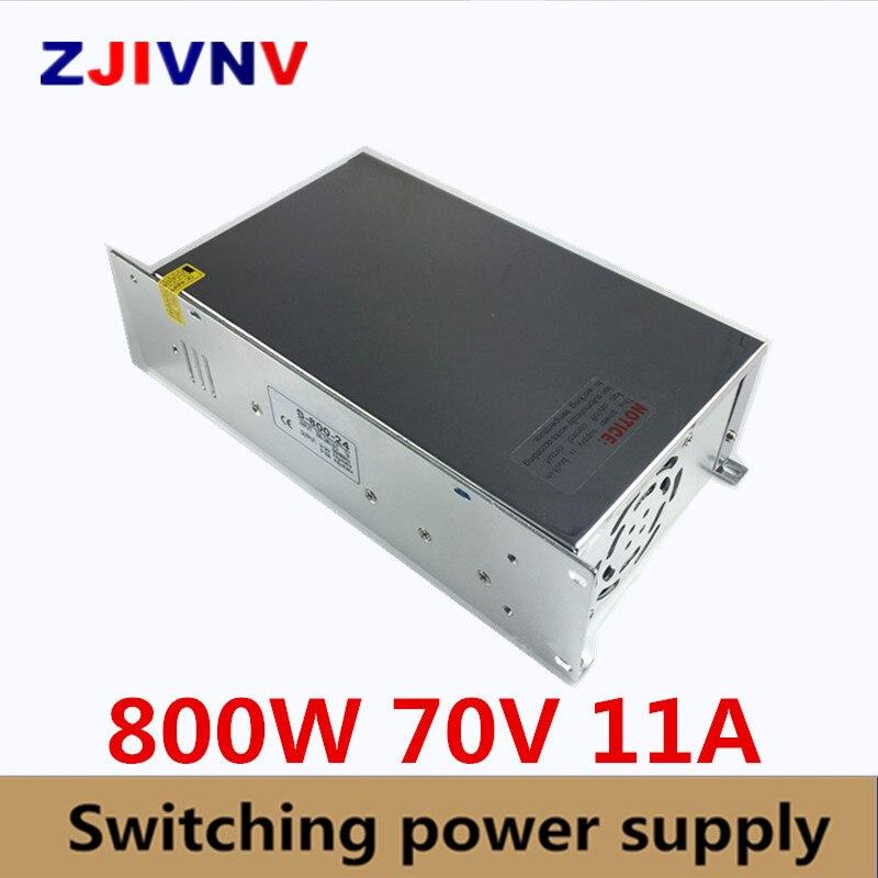 Universel DC70V 11A 800 W Commutateur Alimentation Régulée Transformateur 110 V 220 V AC à DC 70 V SMPS Pour CNC Machine DIY LED Lampe CCTV