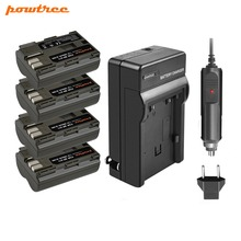 Powtree For Canon 7.2V 2800mAh BP511A BP-511 BP 511 BP511 Digital Camera Battery + Charger 300D 5D 30D 40D 50D G6 90IS HOT