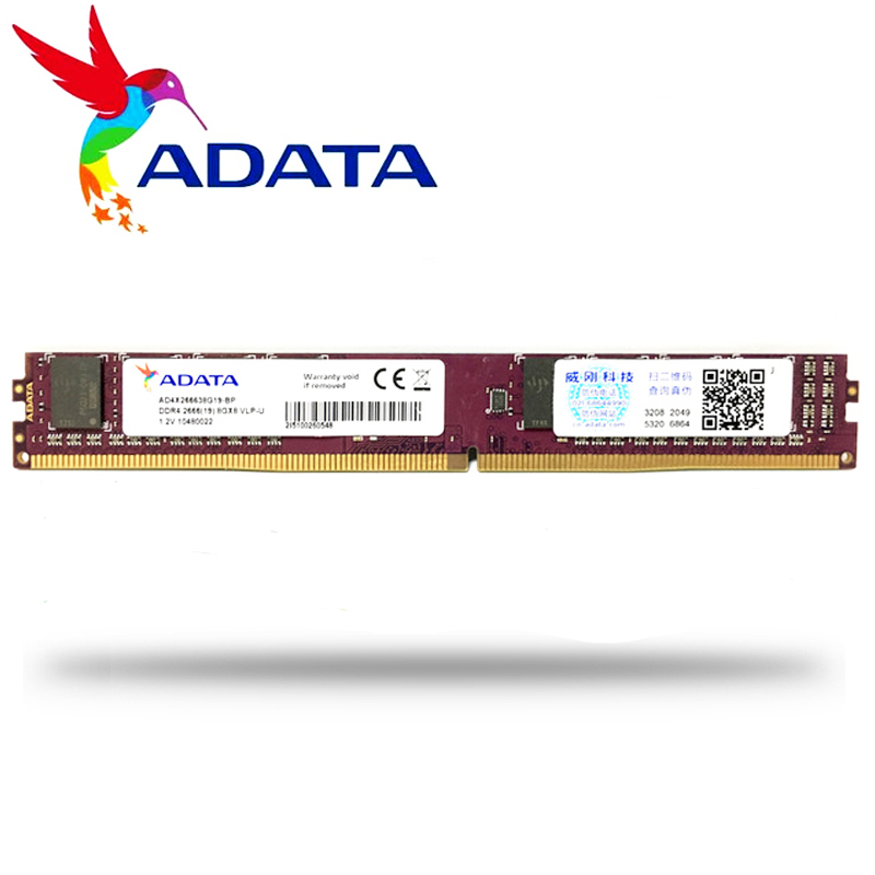 US $19 9 |ADATA PC ddr4 ram 8GB 4GB 16GB 2666MHz or 2400MHz DIMM Desktop  Memory Support motherboard PC4 4G 8G 16G 2666 2400 MHZ-in RAMs from  Computer