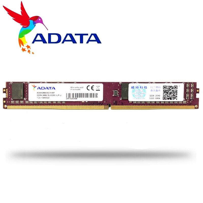 ADATA PC ram ddr4 8GB GB 16 4GB 2666MHz ou 2400MHz Suporte de Memória DIMM de Desktop motherboard PC4 16 8 4G G G 2666 2400 MHZ
