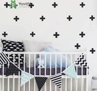 Cutom Size Cross Plus Patterm Wall Decor Sticke For Kids Nursery Bedroom Art Home Bedroom Children