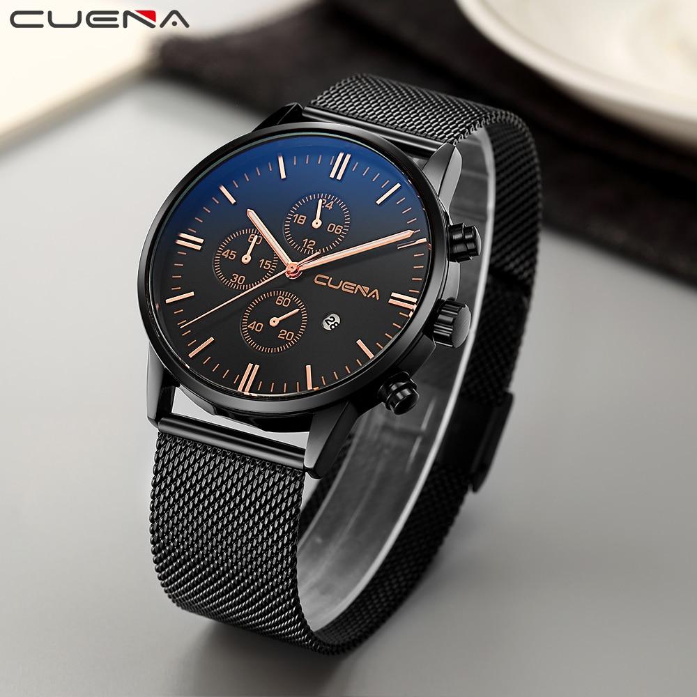 CUENA Men Quartz Ժամացույցներ Watրի դիմացկուն - Տղամարդկանց ժամացույցներ - Լուսանկար 4
