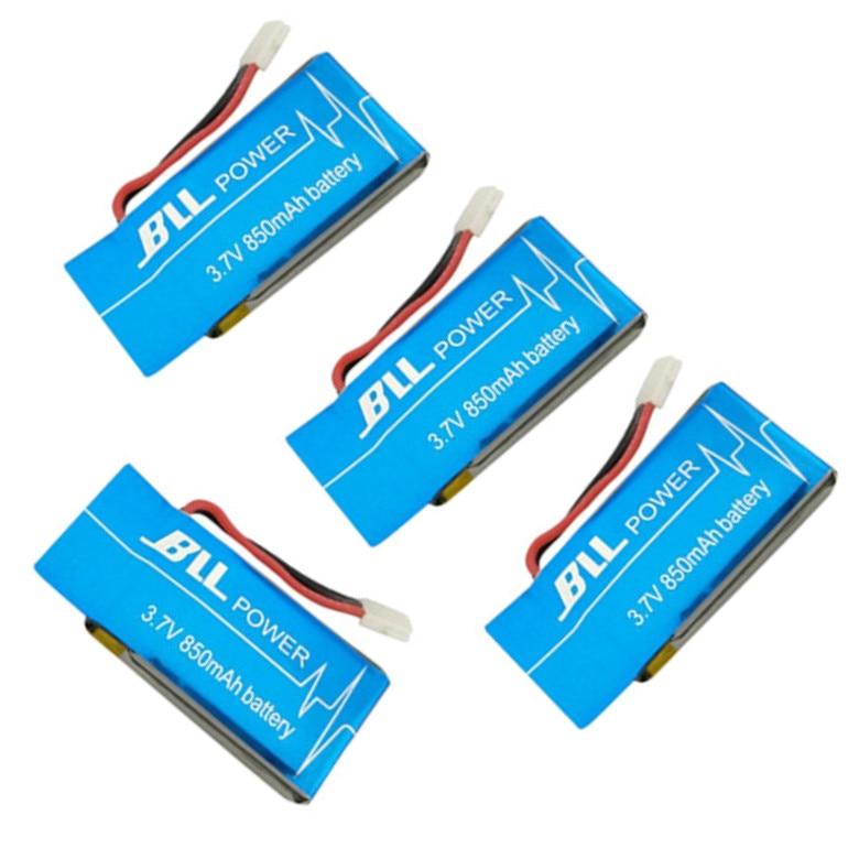 BLL 4PCS SYMA X5SC X5SC 1 X5SW X5SC 1 3 7V 850mah Upgrade font b Battery