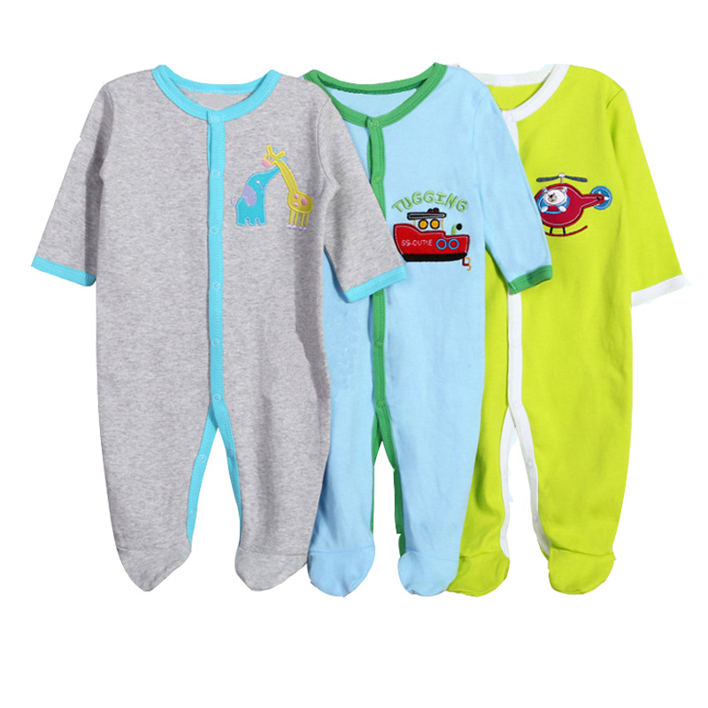3 Pcs/Lot Baby Girl Clothes 100% Cotton Newborn Baby Boys Clothes Long Sleeve Cartoon Baby Romper 0-12M Infant Baby Clothing external 3800mah power battery charger back case for samsung galaxy note 3 black