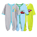 3 Pcs/Lot Baby Girl Clothes 100% Cotton Newborn Baby Boys Clothes Long Sleeve Cartoon Baby Romper 0-12M Infant Baby Clothing