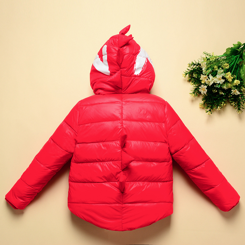 Winter Children Boys Jackets Cartoon Tyrannosaurus Girls Winter Coat Kids Outerwear Baby Boys/Girls Down Jacket Infant Clothes 7
