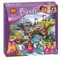 Campamento de aventura de rafting 325 unids amigos series building block ladrillo mini figura girls toy lepin 41121 compatiable con lego