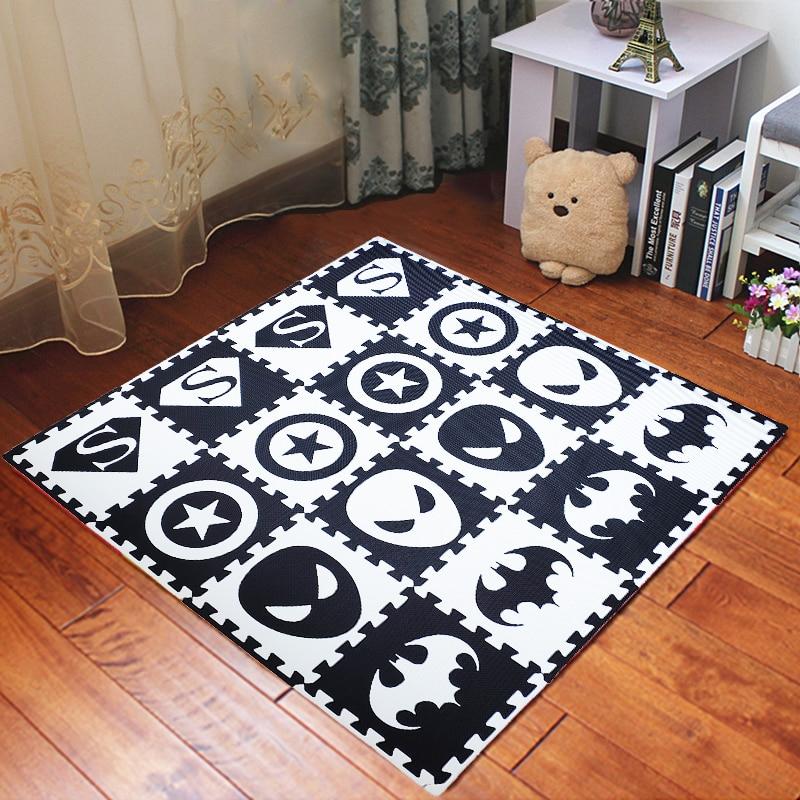JCC 8/24pcs Hero Style Baby EVA Foam Puzzle Play Mat /kids Rugs Carpet  Interlocking Mat For Children Tiles 30*30*1cm