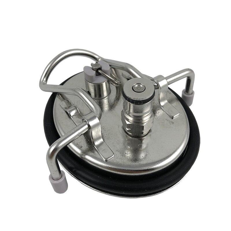 Homebrew Kegging Carbonating Beer Keg Carbonation Lid Cornelius Style in-built Ball Lock Gas Post Disconnect  (5)