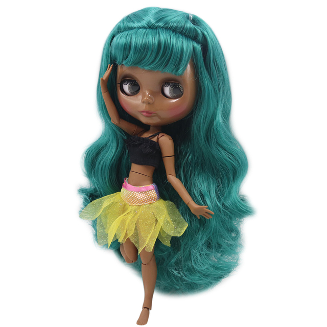 Nude Blyth Doll For Series No.280BL1206 Joint body Dusty Green hair Suitable For DIY Change BJD Toy Factory Blyth 1