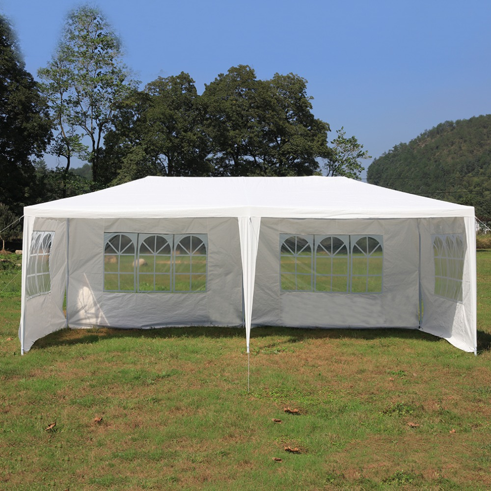 Durable 3*6M Outdoor Canopy Waterproof PE Gardens Gazebo Marquee Portable Party Tent Universal Awning Canopy for Garden Tool outdoor recreation sun awning tent double canopy large camping summer beach tent 6 persons waterproof folding gazebo for garden