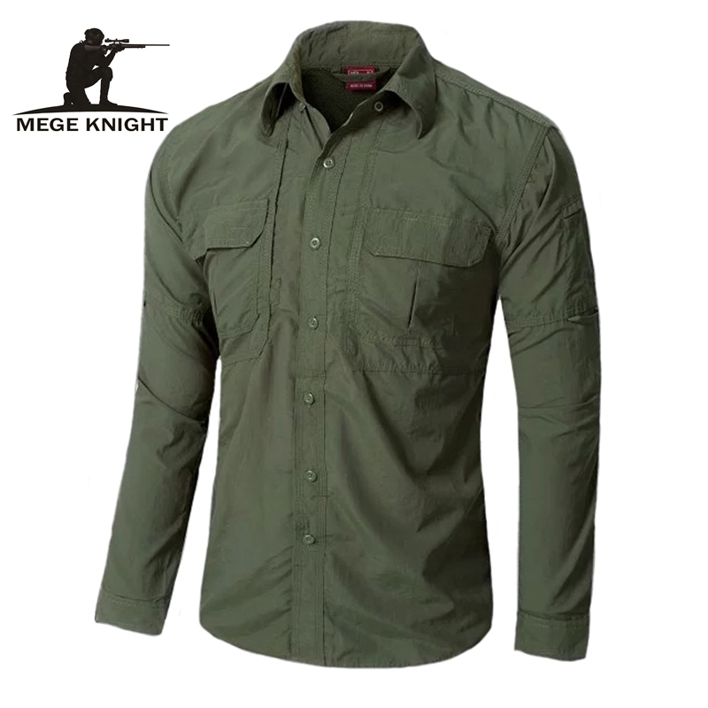 Chemise tactique urbaine OD chemise décontractée à séchage rapide, vêtement respirant et casual