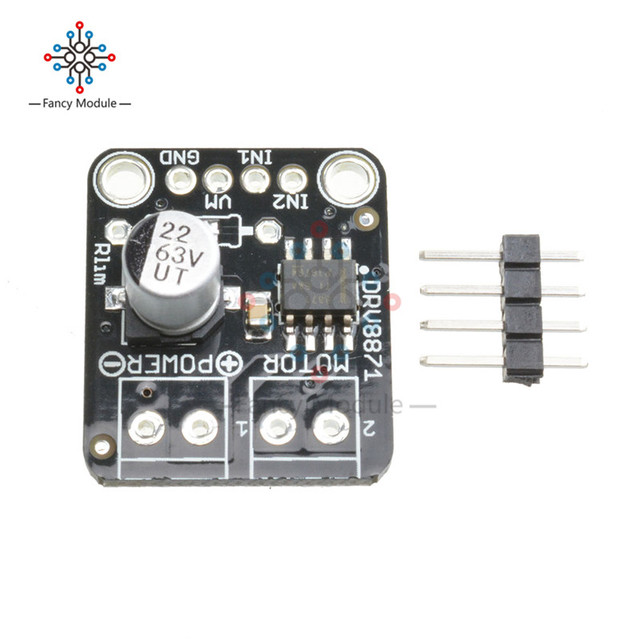US $7 35 |DRV8871 H Bridge Brushed DC Motor Driver Breakout Board PWM  Control 3 6A Max Internal Current Sense MOSFET Module For Arduino-in  Instrument