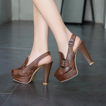 Square High Heels Comfortable Ladies Party Shoes