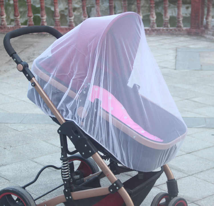 Mosquito proofing Baby Stroller PushchairInsect Shield Net Safe Infants Protection Mesh Stroller Accessories 150cm Mosquito Net