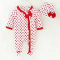 New Fashion Newborn Spring&Autumn Baby Girls Lovely Printing Clothes Comfortable Long Sleeve  Jumpsuit Bebe kids 3-9M