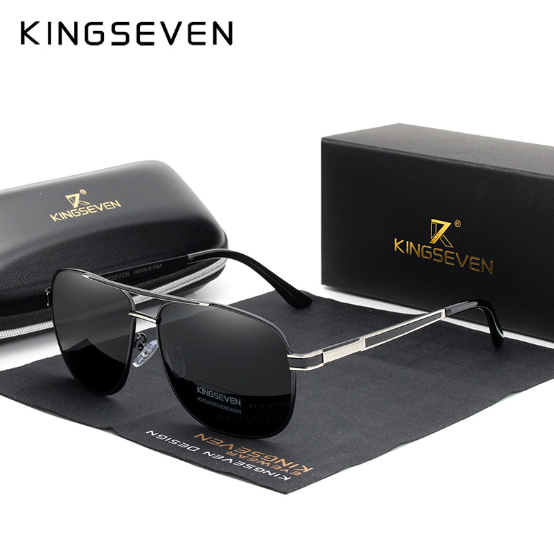 KINGSEVEN 2019 Men Women Polarized Sunglasses Square Red Mirror Lens 100% UV Protection Oculos De Sol Masculino N738