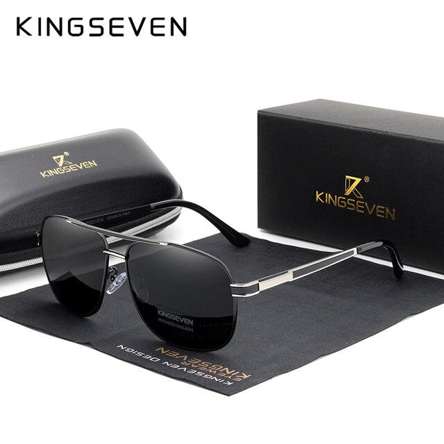 63af74c5b888 KINGSEVEN 2019 Men Women Polarized Sunglasses Square Red Mirror Lens 100% UV  Protection Oculos De Sol Masculino N738
