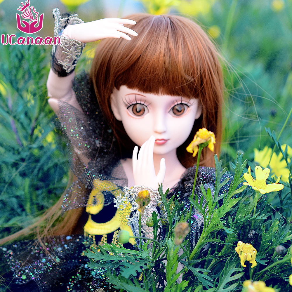 UCanaan 1/3 BJD Doll Reborn Girls Toys Can Changed Eyes With Wig Shoes 19 Joint Body Makeup DIY SD Dolls Mushuang ювелирное изделие 01c614076