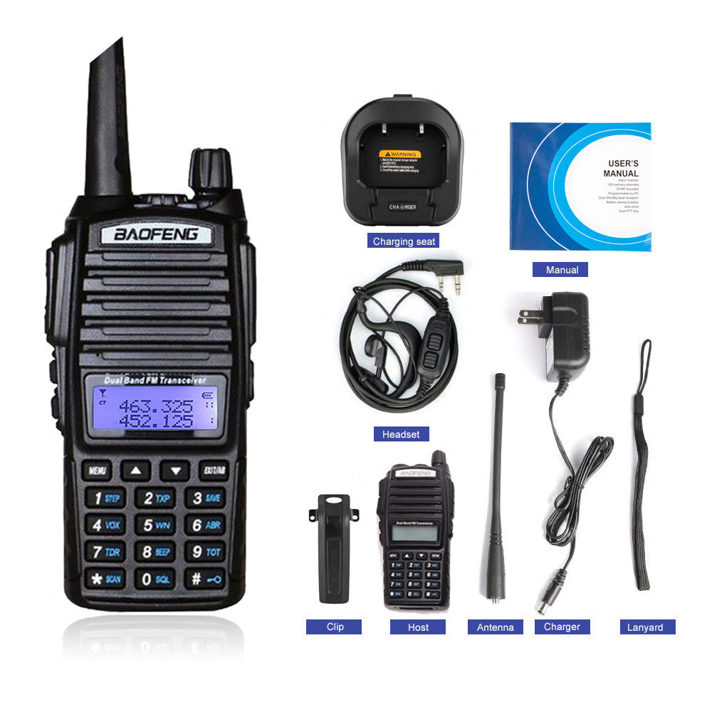 1PC Walkie Talkie BaoFeng UV-82 Dual-Band 136-174/<font><b>400</b></font>-520 <font><b>MHz</b></font> FM Ham Two Way <font><b>Radio</b></font> Transceiver image