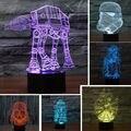 НОВЫЙ 3D Звездные войны Герои Night Light LED 7 Цветов Изменение детская Комната Спальня Декоративные Стол Настольные Лампы Свет USB Сенсорная Кнопка
