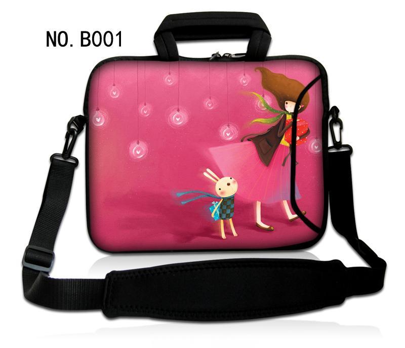 """US 13.3/"""" 14/"""" 15.6/"""" Laptop Shoulder Bag Cover Case Computer Notebook PC Rose Red"""