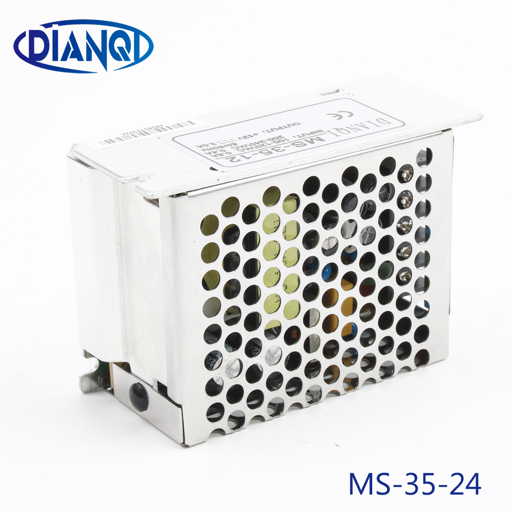 high quality power supply unit mini size 35W <font><b>24V</b></font> <font><b>1.5A</b></font> power suply 35W <font><b>24V</b></font> din led <font><b>ac</b></font> <font><b>dc</b></font> converter ms-35-24 image