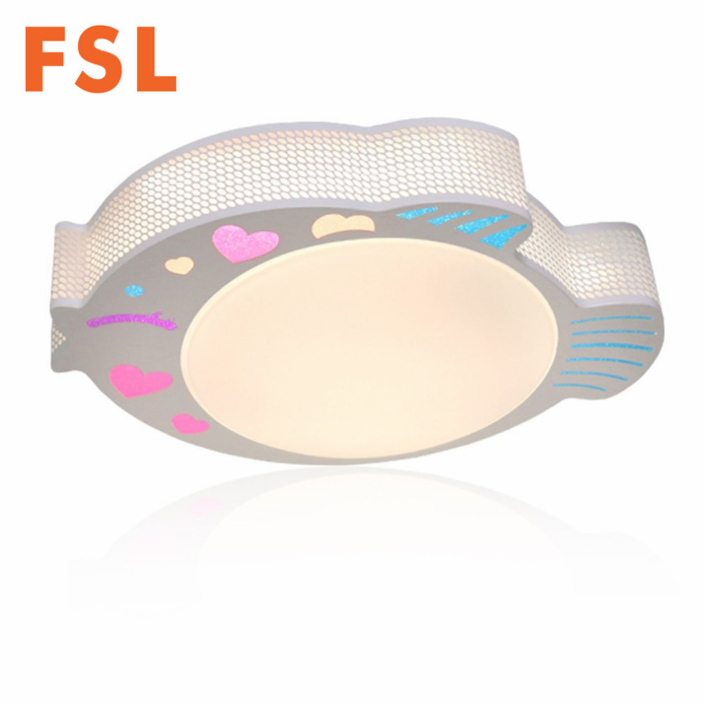 FSL 24W Creative Fish Shaped Acrylic LED Ceiling Light 3 Color Adjustable Cartoon Ceiling Lamp for Children's room Bedroom Decor m sparkling td303 creative cartoon 3d led lamp page 3