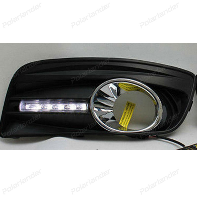 car styling 2 pcs auto part led daytime running light DRL For V/W golf 5 2003-2009 accessory 2009 2011 year golf 6 led daytime running light