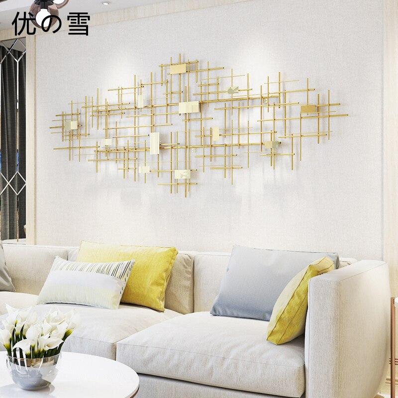 Salon métal décoration murale canapé fond mur décoration salle à manger fer mur décoration modèle créatif mur Decoratio