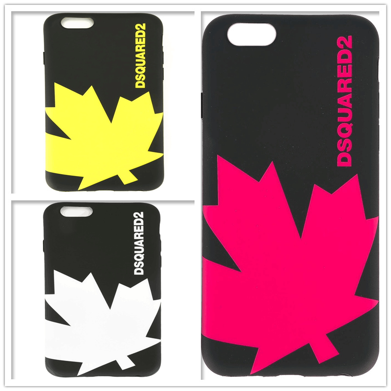 New Arrival Milan Maple Dsquared Ltaly Leaf Brand Soft TPU For iPhone X Case Cover For iphone 8 6 6S 6Plus /6S Plus7 7Plus Cases