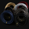 6mm 3meter/lot Sewed PU Leather Cord Rope String For DIY Necklaces & Bracelets Jewelry Findings Materials
