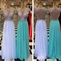 2016 Novos Vestidos de Noite Sexy Com Decote Em V De Cristal Faísca Backless do Assoalho-Comprimento vestido de Noite Vestidos Longos Vestidos De Festa À Venda Noite