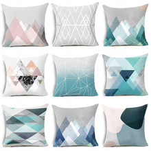 2018 CUSCOV Simple Geometric Nordic Style Cushion Cover Cotton Polyester Home Decorative Pillows Cover Pillowcase For Car Sofa